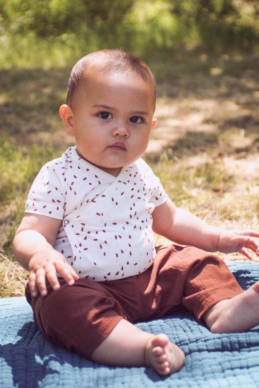 pantalon enfant Minabulle sienne